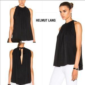 NWT Helmut Lang halter top keyhole blouse sz med